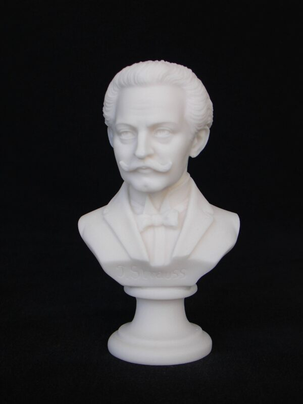 Greek statue bust of the famous Austrian composer Strauss in White color