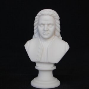 Greek statue bust of the famous German composer Johann Sebastian Bach in White color