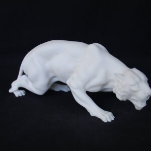 Greek statue of a Jaguar in White color