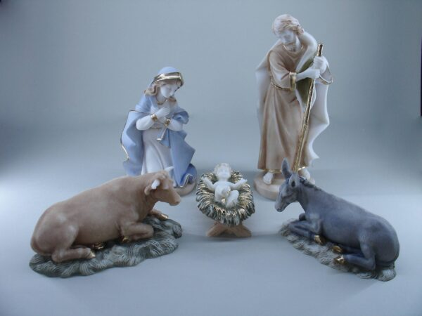 The statue of Nativity of Jesus Christ in color