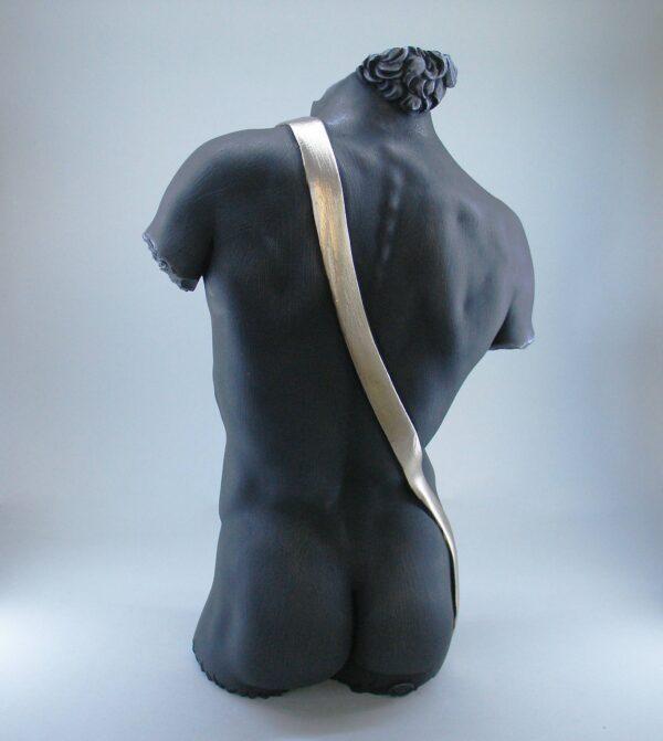 Greek statue replica part of David's torso by Michelangelo