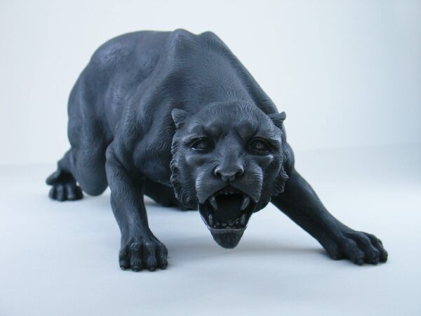 Greek statue of a Jaguar that roars