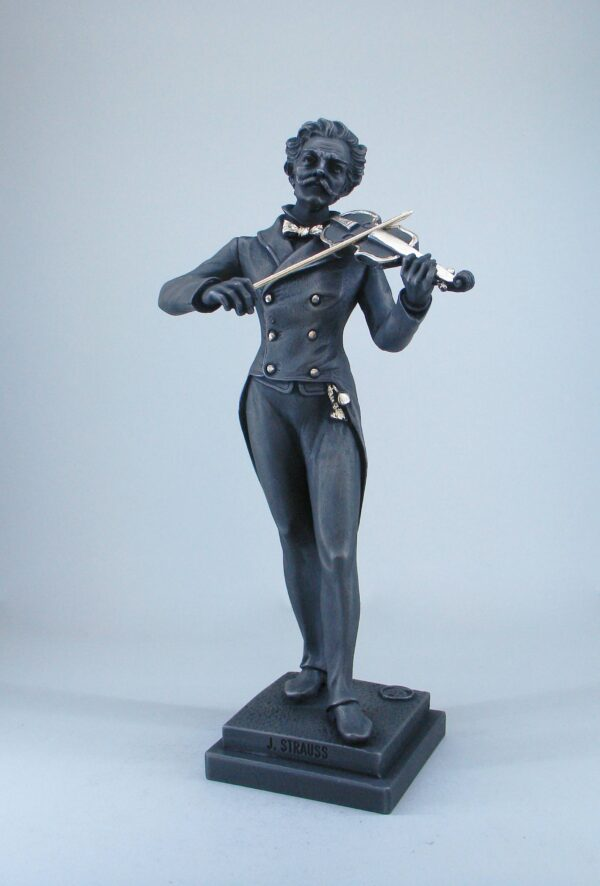 Johann Strauss II whole statue for sale made of Alabaster