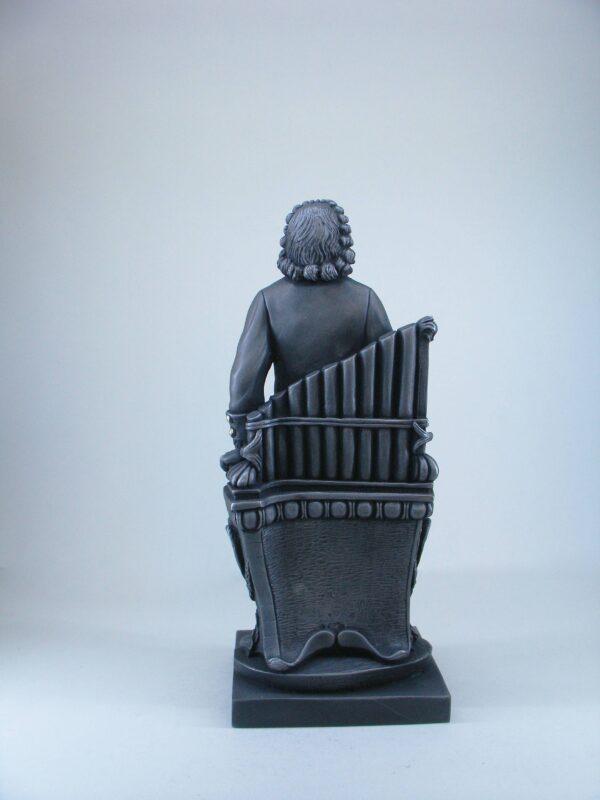 Greek statue of the famous German composer Johann Sebastian Bach in Black color