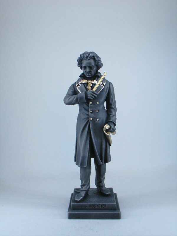Greek statue of the famous German composer Ludwig van Beethoven in Black color